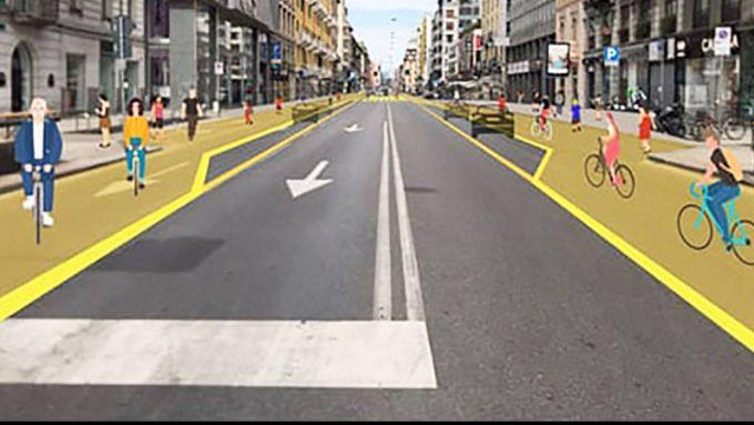 Corsie ciclabili, Milano si prepara