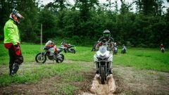 Corso Ducati DRE Enduro: con le ruote tra i tronchi il percorso è obbligato