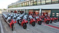 Corso guida DRE Ducati Riding Experience Precision, un bel parterre di Ducati