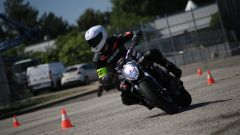 Corso guida Ducati DRE Precision, lo slalom