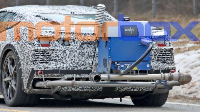 Corvette C8 PHEV: il misuratore delle emissioni inquinanti