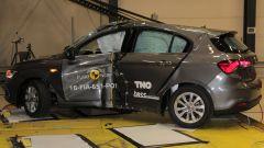 Crash Test Euro NCAP: buona risposta della Tipo alle prove di impatto laterale (barriera laterale e palo)