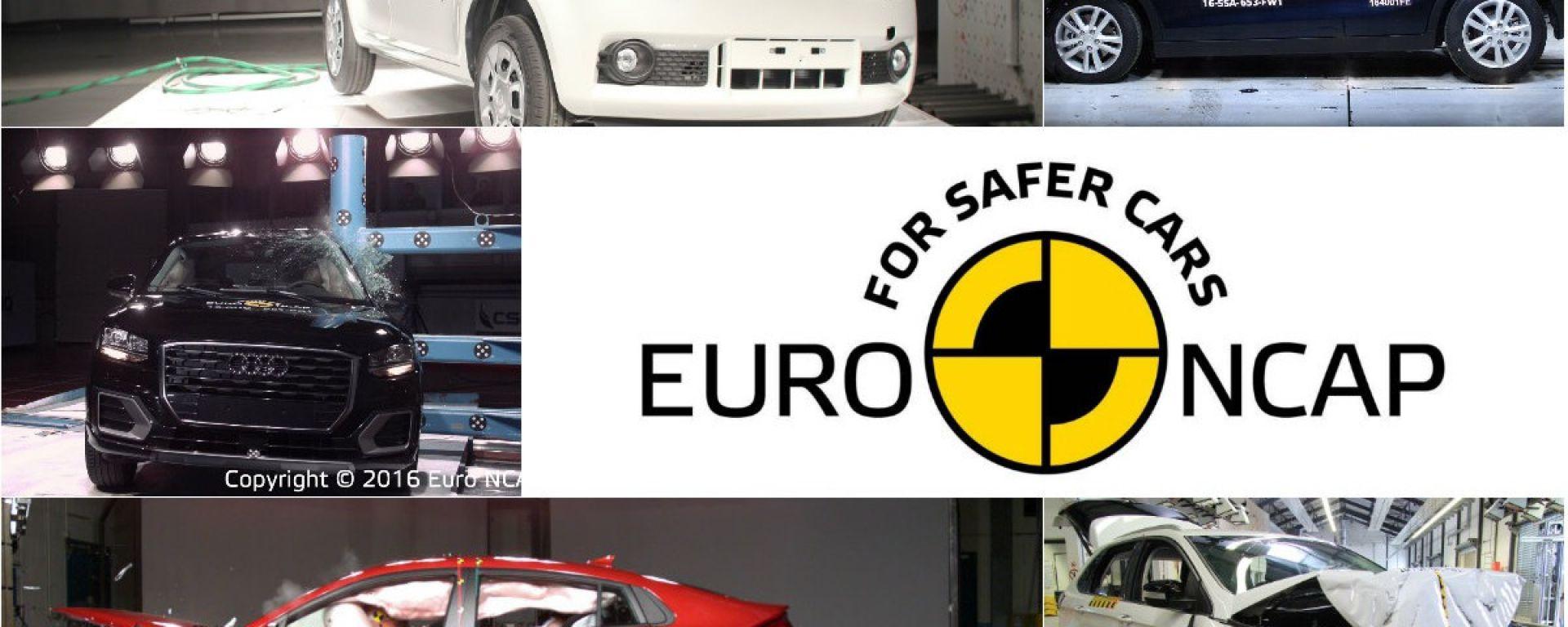 crash test euro ncap i risultati di audi q2 ford edge suzuki ignis hyundai ioniq e. Black Bedroom Furniture Sets. Home Design Ideas