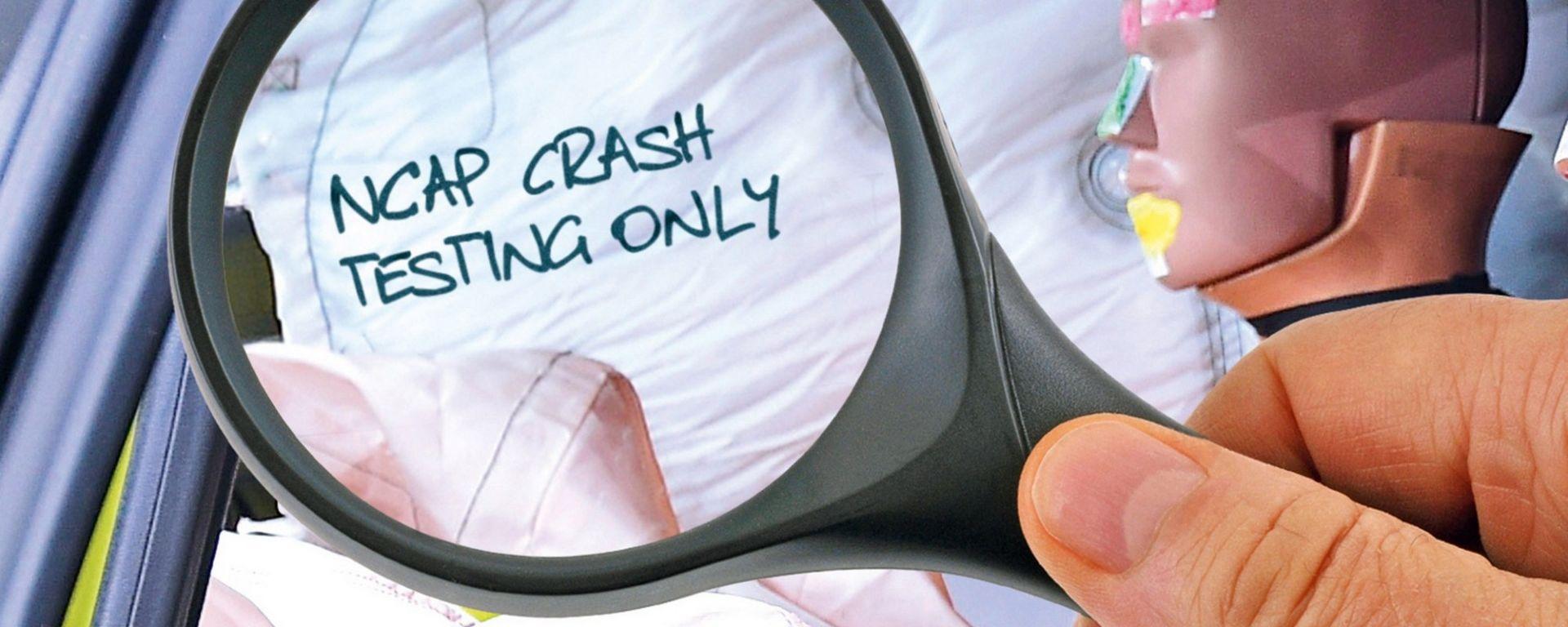 Crash test EuroNCAP, scritte sospette su airbag e attacchi Isofix