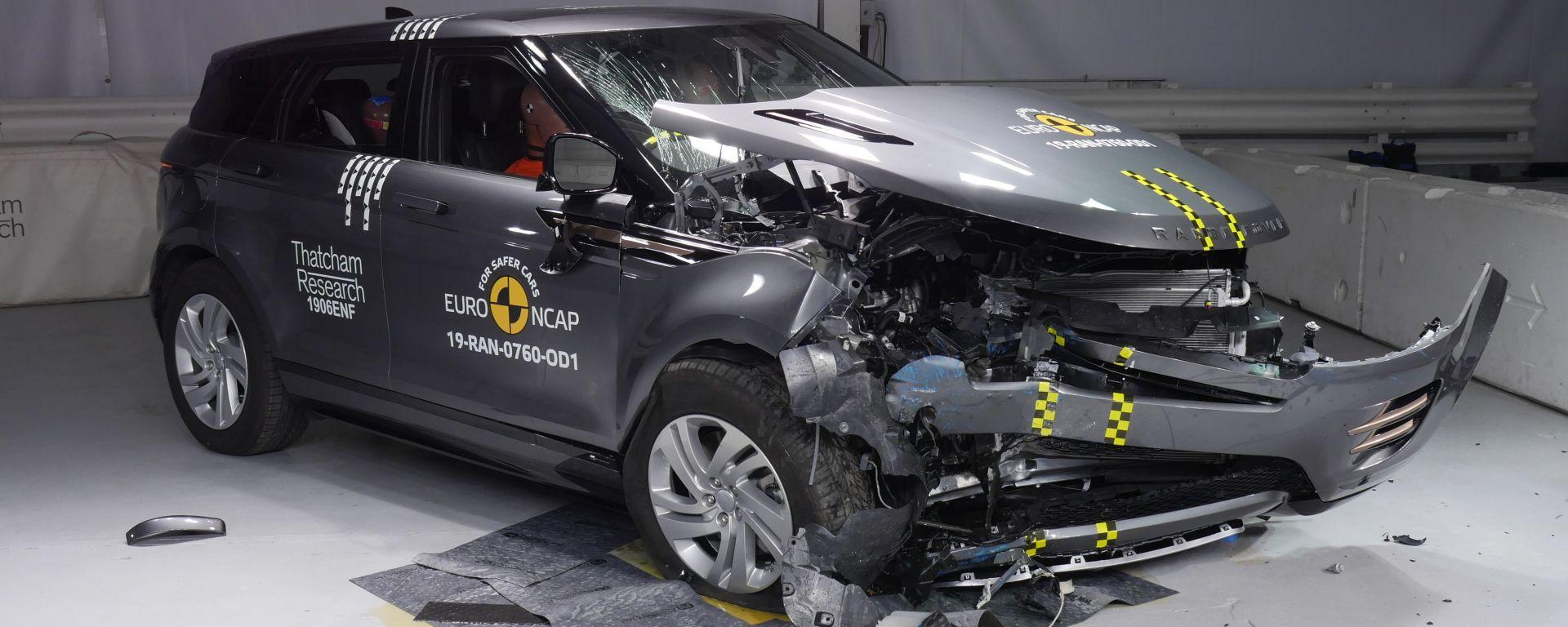 Crash Test Range Rover Evoque 2019 5 impatto frontale