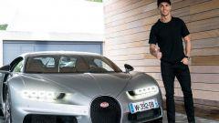 Cristiano Ronaldo e la sua Bugatti Chiron