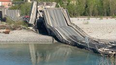 Crollo ponte Albiano Magra, solo due feriti