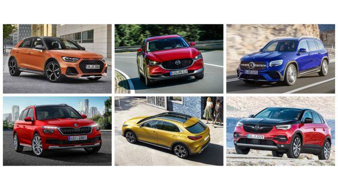 Crossover e SUV 2019: Mazda CX-30, Kia Xceed, Skoda Kamiq, Audi A1 Citycarver, Mercedes GLB, Opel Grandland X Hybrid4