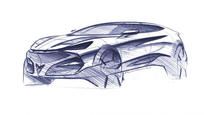 Cupra Tavascan: un bozzetto del Suv coupé spagnolo