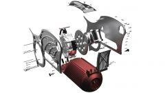 Curtiss Motorcycle: esploso dell'architettura The One