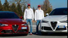 Da sinistra: Antonio Giovinazzi e Kimi Raikkonen