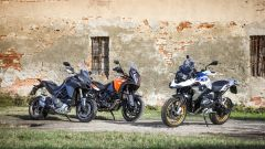 Da sinistra: Ducati Multistrada 1260, KTM 1290 Super Adventure, BMW R 1250 GS