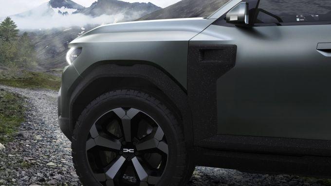 Dacia Bigster: le plastiche riciclate con finitura granito