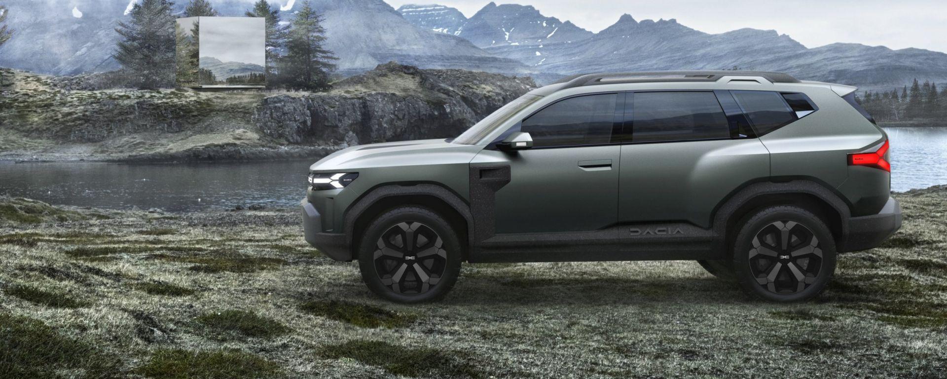 Dacia Bigster: vista laterale del concept