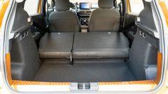 Dacia Sandero Comfort GPL: lo scalino che si forma con gli schienali abbassati