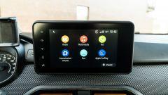 Dacia Sandero Comfort GPL: lo schermo da 8