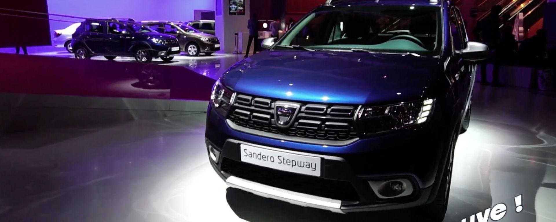 Live Parigi 2016: Dacia Sandero e Logan 2017 in video