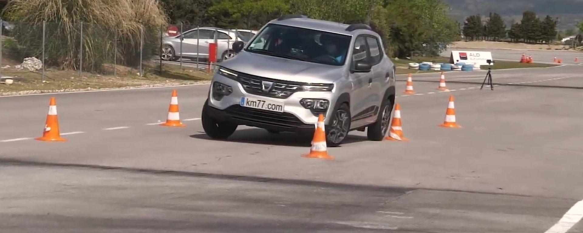 Dacia Spring al test dell'alce: quale punteggio?