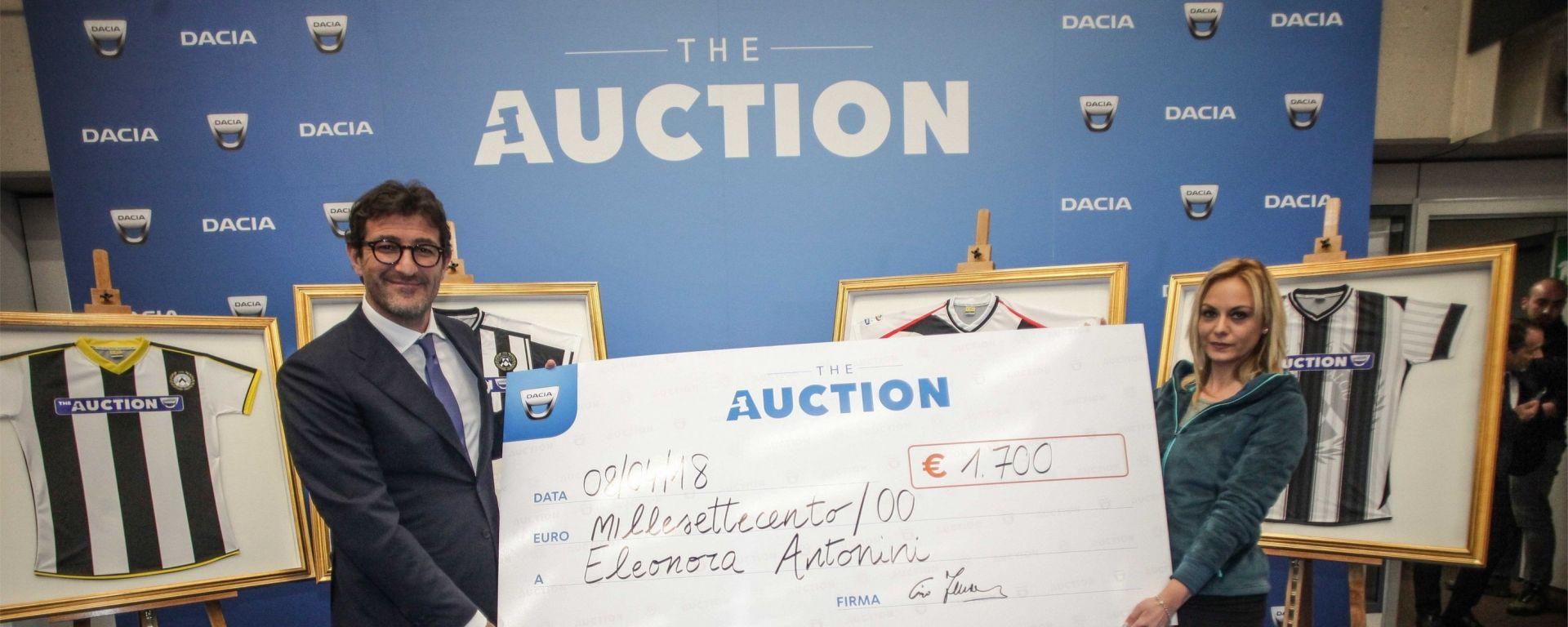 Dacia The Auction: non solo calcio a Udinese-Lazio