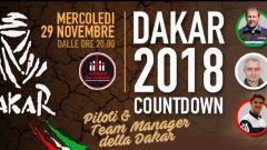 Dakar 2018: il 29 novembre la presentazione di Piloti e Team a Milano