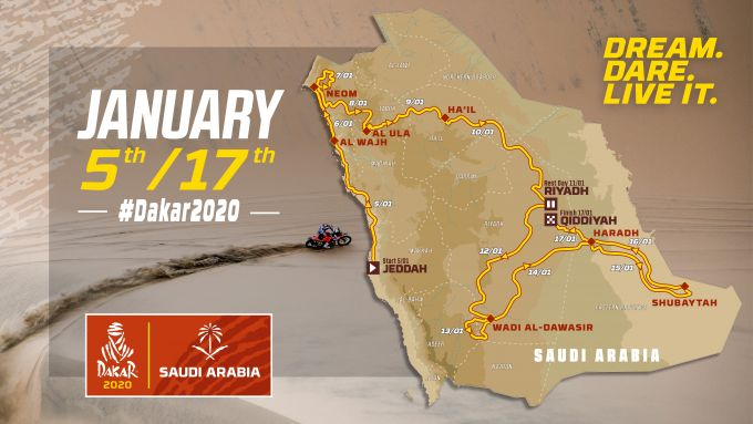 Dakar 2020, il percorso dell'edizione di quest'anno [Foto: ASO]