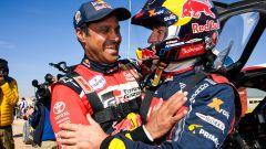 Dakar 2020, tappa 12: Stephane Peterhansel (Mini) e Nasser Al-Attiyah (Toyota) [Foto: ASO]