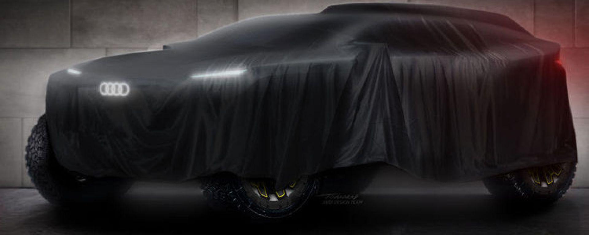 Dakar 2022: teaser del prototipo Audi