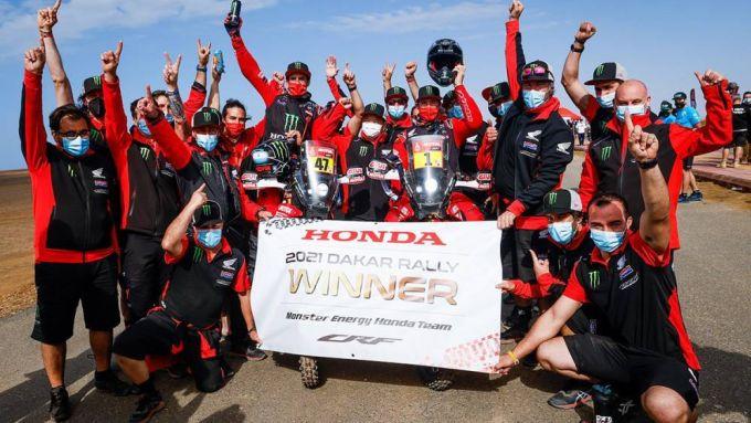 Dakar Moto 2021: Honda festeggia la doppietta