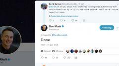 Dal profilo Twitter di Elon Musk