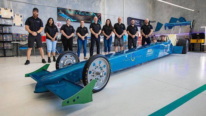 Dall'Australia, un dragster elettrico che fa 0-200 km/h in 0,8 secondi