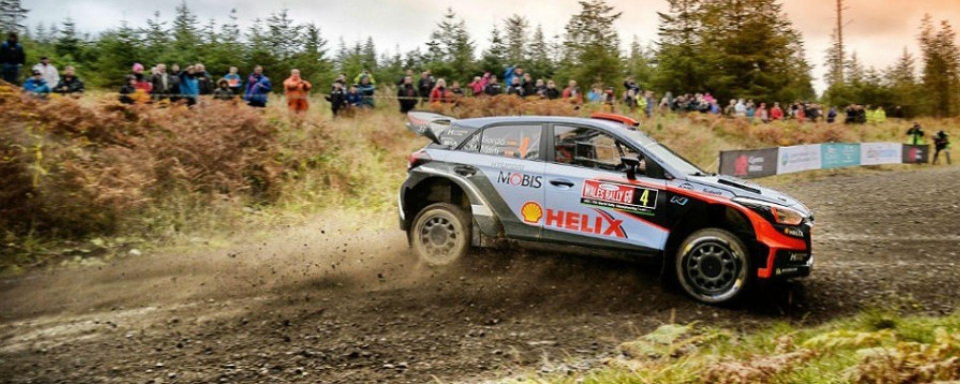 Dani Sordo sulla sua Hyundai - Rally Gran Bretagna 2016