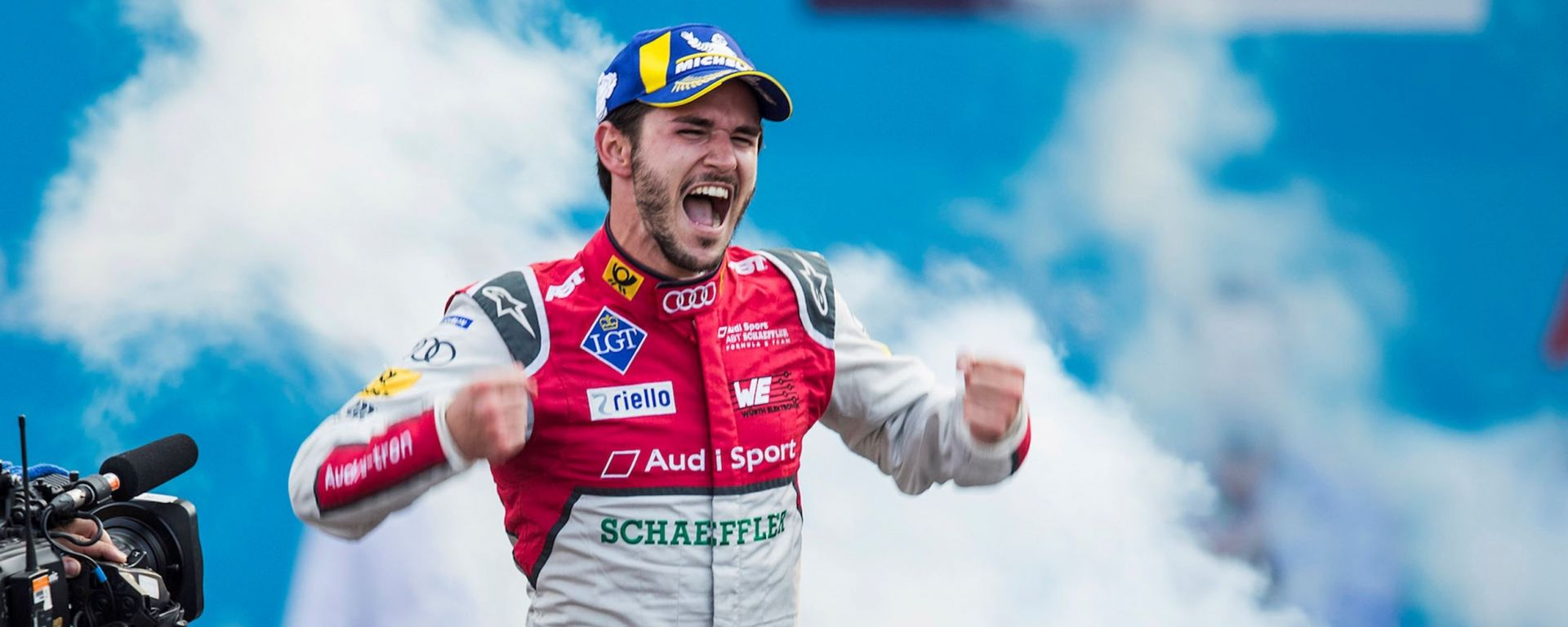 Daniel Abt festeggia sul podio del Messico