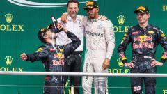 Daniel Ricciardo - Festeggiamenti sul podio in Germania