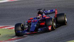 Daniil Kvyat in azione sulla Toro Rosso STR12