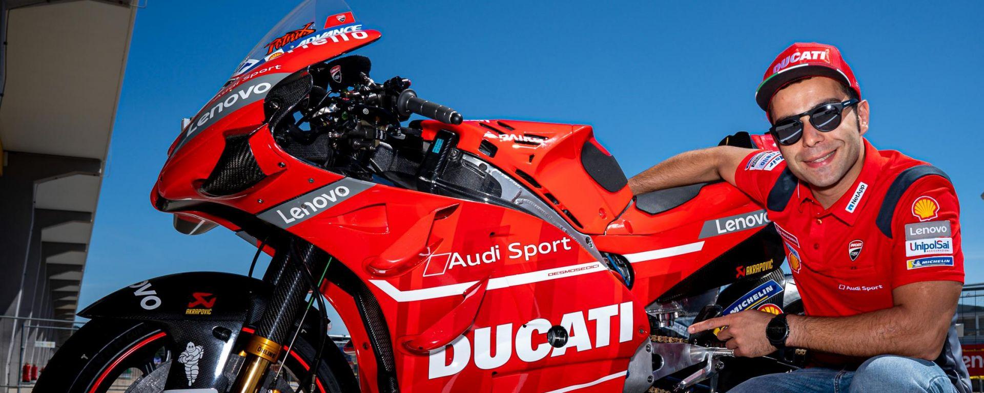 Danilo Petrucci e la Ducati Desmosedici GP-19