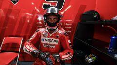 Danilo Petrucci nel box Ducati