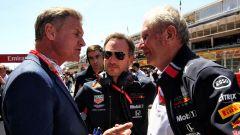 David Coulthard, Christian Horner ed Helmut Marko (Red Bull)