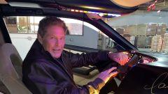 David Hasselhoff a bordo della sua K.I.T.T.