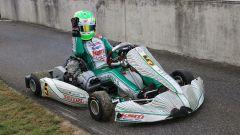 David Schumacher alla guida del suo go-kart