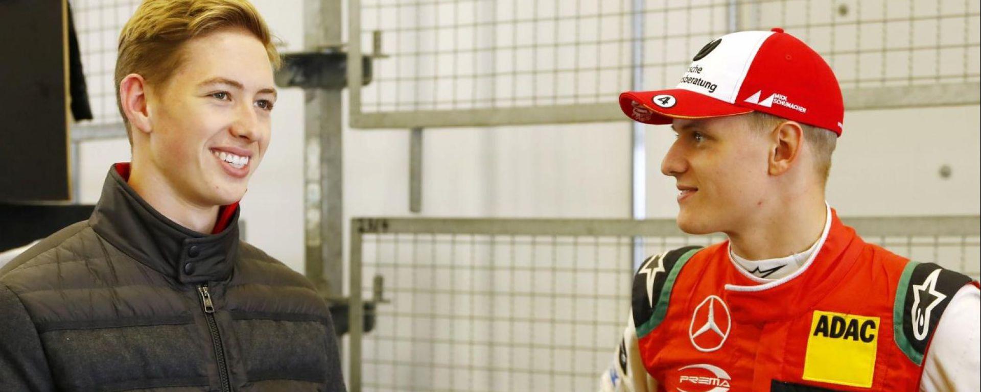 David Schumacher e Mick Schumacher a un appuntamento del DTM 2018 al Nurburgring
