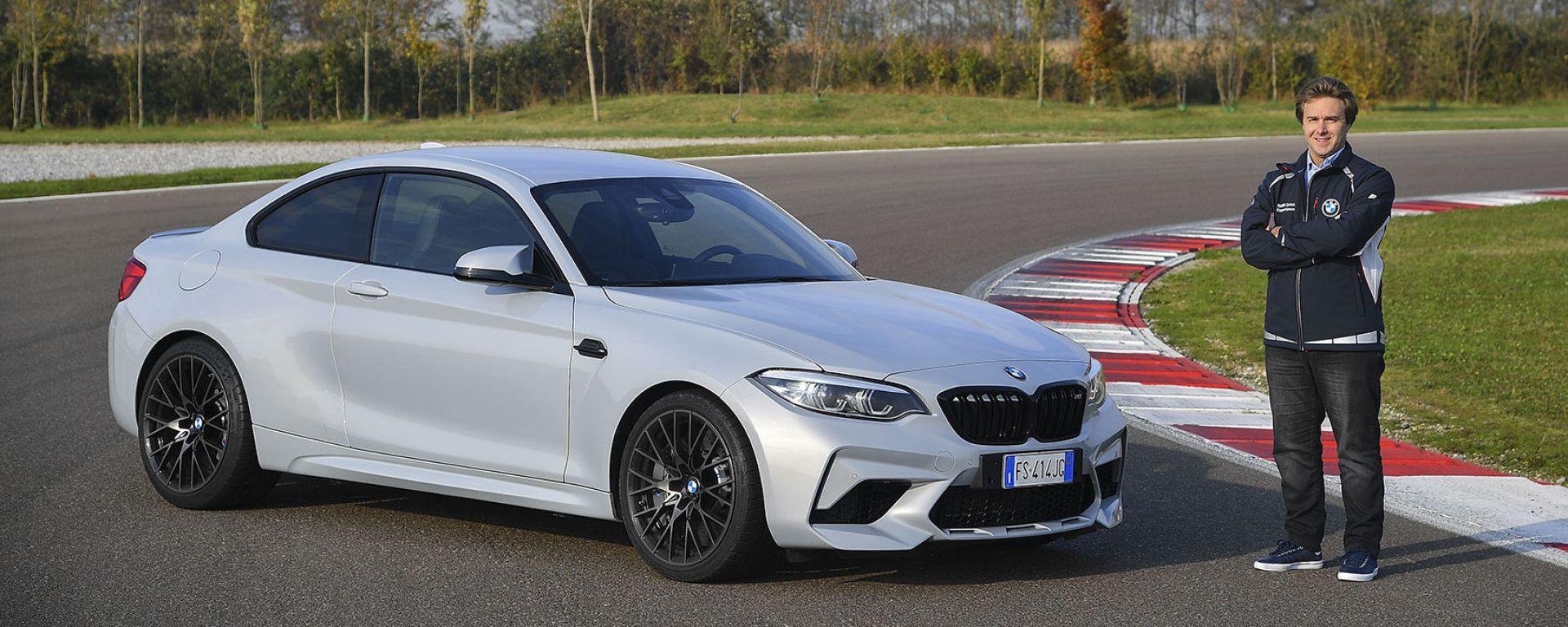 Davide Valsecchi con la BMW M2 Competition