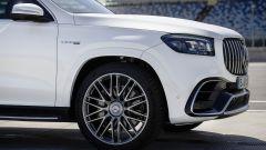 Dettagli dell'anteriore del Mercedes AMG GLS 63