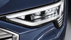 Dettaglio dei nuovi proiettori di Audi e-tron Sportback