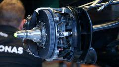 Dettaglio sull'impianto frenante della Mercedes AMG F1 - GP Belgio