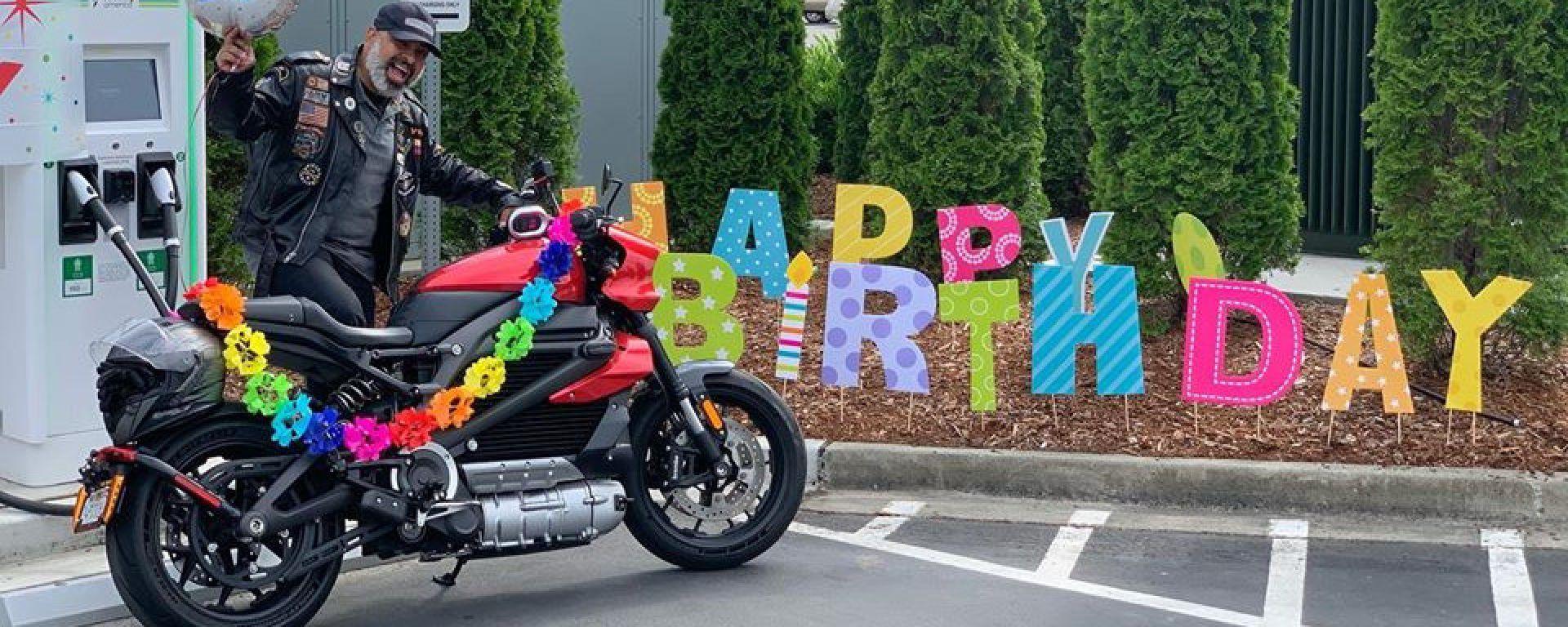Diego Cardenas e la sua Harley-Davidson LiveWire
