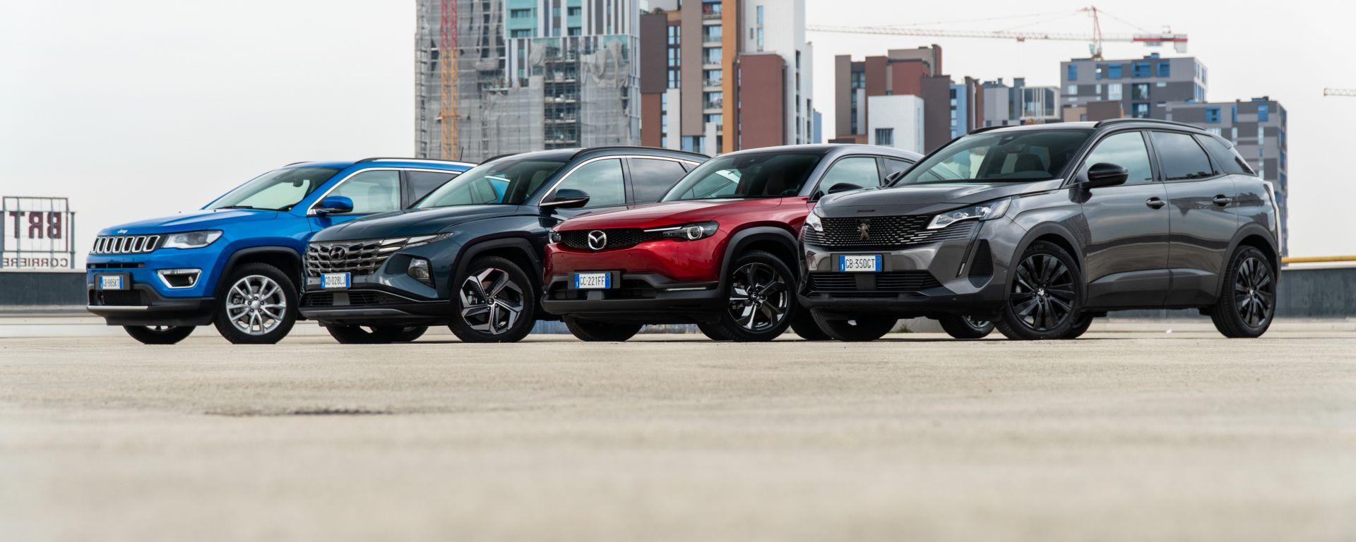 Diesel contro tutti: la comparativa di quattro SUV medi alla prova verità dei consumi