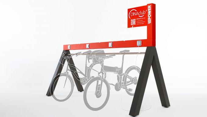 DINAclub, la rete di ricarica per e-bike di Repower: fino a 4 e-bike in carica contemporaneamente