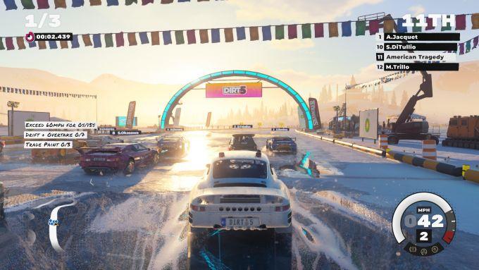 Dirt 5: una schermata di gioco