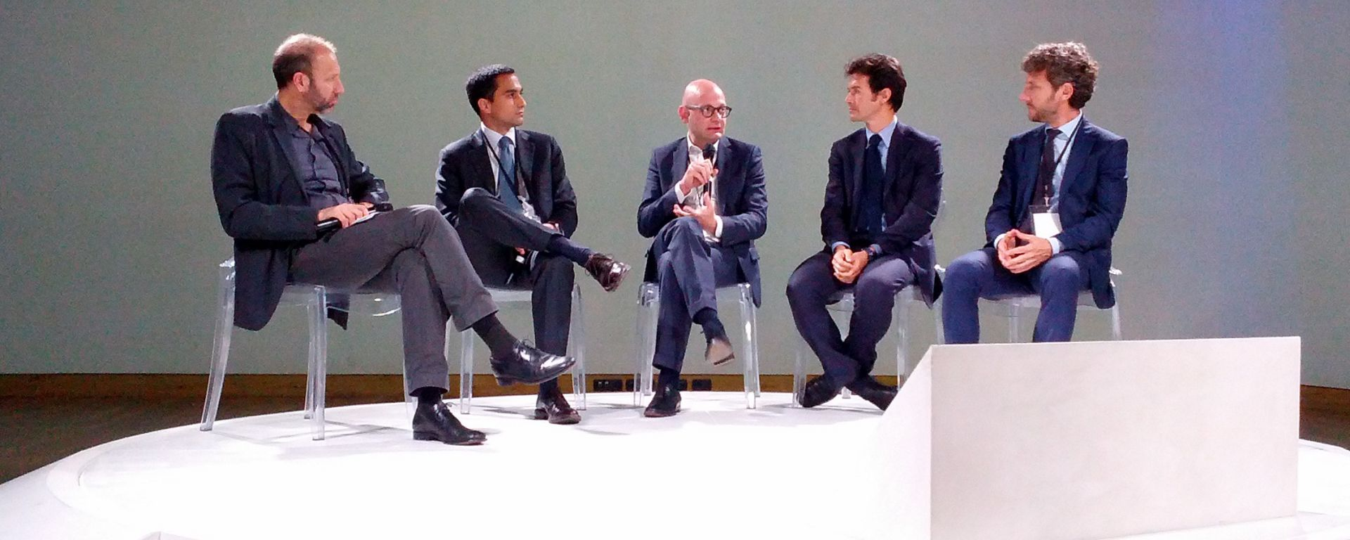 Disruptive Week Closing Talk: da sinistra G. Rusconi, G. Di Loreto, P. Lanzoni, A. Jurkic, A. Leverano