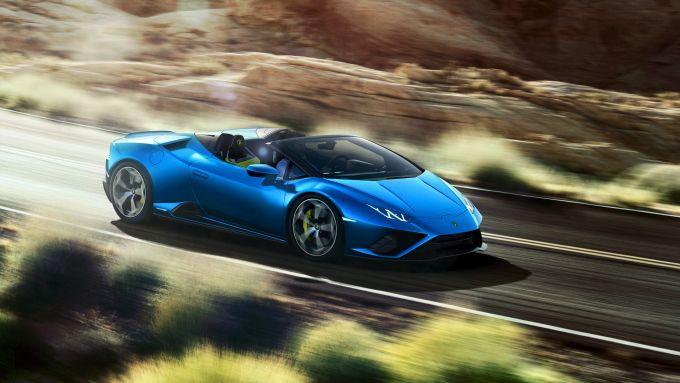 Dopo Urus, la Huracan (qui la EVO RWD Spyder) è la Lamborghini più venduta nel 2020